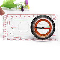 Mini Baseplate Bússola Map Scale Ruler Outdoor Camping Caminhadas Ciclismo Scouts Compass Militar