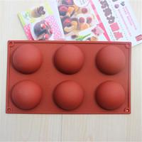 Wholesale Half Sphere - Hot Sale Half Ball Sphere Chocolate Cake Muffin Pastry Jello Silicone Mold Tray Free Shipping WA1605