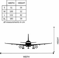 Wholesale Sports Wall Mural Wallpaper - 4028 3D Airplane Wall Stickers Muraux Wall Decor Airplane Wall Art Decal Decoration Vinyl Stickers Removable Airplane Wallpaper