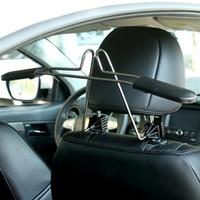 coat hanger holder toptan satış-Elbise askısı takım için araba askıları Ölçeklenebilir Uygun kafalık sandalye Koltuk depolama tutucu raf paslanmaz çelik