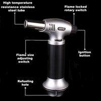 Wholesale Chef Kitchens - Kitchen {Culinary} Torch | Cooking Torch For Creme Brulee | Butane Blow Torch For Home & Pro Chefs | Safety Lock & Adjustable Flame