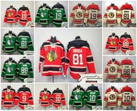 Wholesale Hawking Orange - Hockey Hoodies Chicago Black Hawks Signature Signed Jersey 9 HULL 10 SHAPP 19 JONATHAN TOEWS 81 MARIAN HOSSA 88 PATRICK KANE