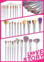 Wholesale Shaving Brushes Wholesale - 2017 Hot 10Pcs Makeup Brushes Set Fantasy Professional Oval Eyebrow Foundation Powder Eyeshadow Make Up Brush Kit Maquillaje Shaving