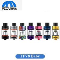 Wholesale Joyetech E Cig Tanks - Original SMOK TFV8 Baby Beast Tank 7 Colors 3ml Sub Ohm Vape Atomizer E Cig for Joyetech Ocular Osub One Kit
