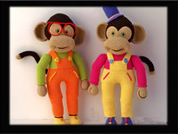 Wholesale Baby Shower Stuff - Wholesale- doll - toy - baby shower - stuffed---Monkey toy and doll rattle