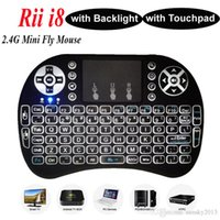 Tastiera retroilluminata Rii i8 + 2.4Ghz Tastiera WirelessMini Fly Air Mouse con Touchpad Retroilluminazione per Mini PC Smart A95X X96 Android TV Box