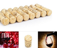 Wholesale Wine Bar Wood - Straight Bottle Wood Corks Wine Bottle Stopper Corks Wine Stoppers Bottle Plug Bar Tools Wine Cork Wooden Sealing Caps