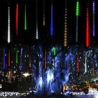 meteor duş ledli toptan satış-Çok renkli 30 cm 50 cm Meteor Yağmuru Yağmur Tüpleri LED Noel Işıkları Düğün Bahçe Işık Noel Dize Işık açık