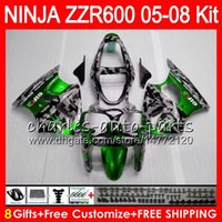 kit de carenado para kawasaki zzr al por mayor-8 regalos 23 colores cuerpo para KAWASAKI NINJA ZZR 600 05 06 07 08 32NO95 600CC camuflaje ZX600 ZZR600 05 ZZR-600 2005 2006 2007 2008 kit carenado