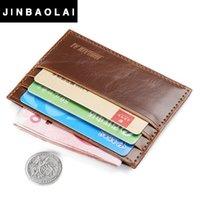 Wholesale Book Cover Purse - JIOLAI 2016 Hot Sale Vintage Slim Mini PU Leather Credit ID Card Holder Wallet Purse Bag Pouch Book Cover Case Wholesale