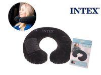 Wholesale Flocked Material - Wholesale-INTEX black color pvc inflatable travel pillow neck pillow U shape air cushion 68765 high quaity flocked material comfortable