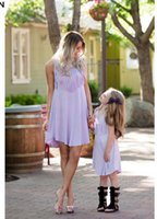 Wholesale Elegant Mum - Mother Daughter Dresses Baby Girl Wedding Princess Dress Mommy and Me Clothes Elegant Tassel Love Mama Mum and Daughter Clothes