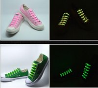 beleuchtete schnürsenkel groihandel-Neue Entwurfs-Weihnachtsgeschenk keiner Krawatte Shoelaces leuchtende LED-Schnürsenkel Disco Party Night Lauf Blitz leuchtet Glow Stick Strap Shoelaces