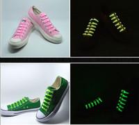 luz acima laços de sapato led venda por atacado-Shoe New Design Presente sem gravata Cordão Luminoso LED Natal Laces Disco Party Night Correndo Flash Light Up vara do fulgor Correia Shoelaces