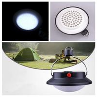 weiße zelte im freien großhandel-Tragbare Outdoor-Camping-Lampe 60 LED-Außenleuchte Campingzelt Nachtlampe Campingplatz hängen weißes Licht