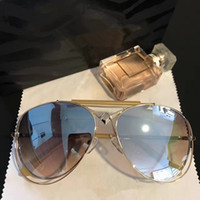 Wholesale dark blue goggles for sale - RC1054 Men Women Brand Designer Roberto Dark Brown Snake Print Gold Brown Luxury Sunglasses UV Protection Round Big Frame Come With Case