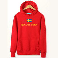 Schweden Flagge Kapuzenpullover Nationale Anti Shrink Sweat-Shirts Land Fleece Kleidung Pullover Sweatshirts Outdoor-Sport-Mantel Gebürstete Jacken