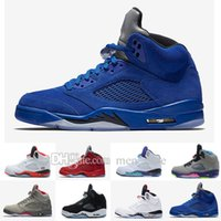 2017 Cheap Retro 5 OG Black Metallic Mens Basketball Shoes Atacado de alta qualidade de couro genuino Air Retro Sneakers Eur 41-47 US 8-13
