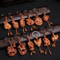 Wholesale ceramic cross pendant for sale - Group buy Brand new Zodiac key holder Taoyu jujube three dimensional key chain gift pendant KR108 Keychains mix order pieces a