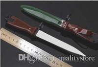 kol bıçakları toptan satış-Nadir !!! Özel Çin Speical Kuvvetler Silahlı Süngü Tipi 81 PLA Askeri Bıçak PLA Karambit Mücadele Avcılık Bowie Koleksiyonu için Güzel Bıçak
