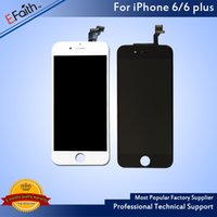 Atacado - Para iPhone 6 iPhone 6 Plus Black White Screen Digitizer Replacement Free Shipping
