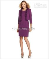 Purple Women Suit Designer Suit Ruffled Open Jacket Sheath Dress Примите выполненное на заказ платье Jacekt + Dress