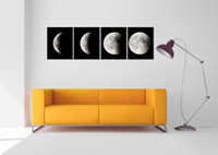 Wholesale Framed Space Art - 4 Panels HD Abstract Space Black and White Decor Pictures Wall Art Picture Digital Art Print Canvas Printed Picture for Living Room Dropship