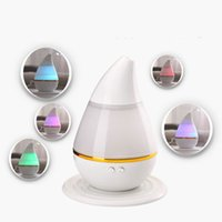 Wholesale Mini Air Humidifiers Purifiers - 7 Colors Aroma Diffuser USB Humidifier Air Purifier Atomizer Essential Oil Diffuser Mist Maker Ultrasonic Night Lihgt Humidifier 1PCS