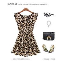 Wholesale Wholesale Leopard Bodycon Dresses - Hot sale!!!2017 Ms. summer fashion nightclub sexy sleeveless round neck leopard dress factory direct LD 017