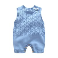 Wholesale Wool Vests Wholesale - 2017 kids clothes Korean version of the sleeveless vest flat clothing climbing baby clothing piecemeal wool pattern cotton wool