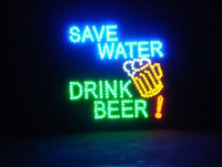 Wholesale 2017 New Arrival custom Graphics x19 Inch indoor Ultra Bright flashing Led save water drink beer Sign