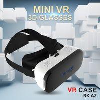 шлем с сердечником оптовых-Wholesale- All in one VR Helmet 3D Glasses VR Case RK-A2 Octa-Core 2G Virtual Reality Glasses Immersive Clear English PK Bobovr X1 Glasses