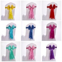 Wholesale chair ties for weddings - Chair Covers Sashes Band Top Quality Free Chair Sash Ribbon For Wedding Events And Party Decoration Tie Bands 2 59sk R