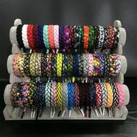 Wholesale California Fashion Men - 86 Styles Rastaclat California shoelace bracelet womens braided sports Charm bangle bracelets For men Fashion DIY Luxury Brand Jewelry