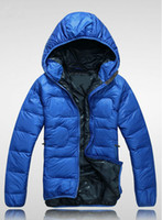 Wholesale Outdoor Clothing Hats - HOT!Men Wear Thick Winter Outdoor Windbreaker Heavy Coats Down Jacket mens jackets Clothes M L XL XXL 4 colors choose TN015F70