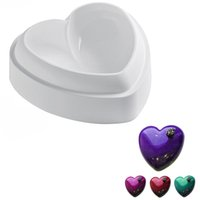 Atacado - 1PCS Non-Stick Silicone Love Heart Shape Bolo Mold Amore Baking Pastry Molds Chocolate Geléia Mousse Pão Molho Savory Cake Pan