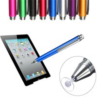 Wholesale Stylus Points - New 8 Colors 12.5cm Fine Point Round Thin Tip Capacitive Stylus Pen Tablet Stylus Pen For iPad 2 3 4 air mini High Quality