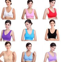 Push Up sport bra with pads - New colors sexy bras with removable bras pads two layer Genie Bra women sport bra seamless women push up bra BAB24