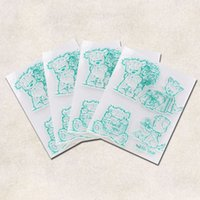 Wholesale Lovely Photo Albums - Wholesale- EZLIFE Lovely Bears Transparent Clear Silicone Stamp Seal for DIY scrapbooking photo album Decorative clear stamp sheets KT0589