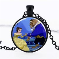 Wholesale Hot Girs - TBA 50PCS Lot Hot Sale Beauty and beast Pendant Necklace Women's Girs' Necklace Fashion Retail Gift Dropshipping