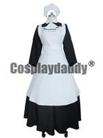 ingrosso cosplay bianca nera bianca-Elegante maniche lunghe Maid costume cosplay Lolita nero bianco