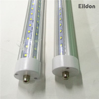 t8 8ft led birne einzigen pin großhandel-T8 LED Röhren Lichter V-förmigen 8ft 7000LM 66W Single Pin FA8 R17D AC85-265V 384LEDs 2835SMD Leuchtstofflampen 2400mm direkt aus China Factory