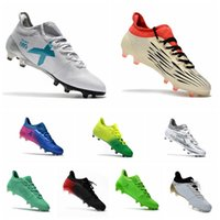Wholesale Cheap Soccer Shoes Messi - 2017 Mens original soccer cleats low top outdoor soccer shoes X 16.1 FG AG football boots cheap messi cleats X 16 17.1 white soccer boots