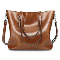4936d8c187c4 Einfaches Design Damen Große Lagerung Solid Frauen Leder Handtasche Casual  Bag Tote Günstige Big Messenger Einkaufstasche