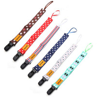Wholesale Dummy Holders - Wholesale-2PC Random Color!! Toddler Newborn Infant Baby Boys Girl Dummy Pacifier Soother Nipple Leash Strap Chain Clip Holder