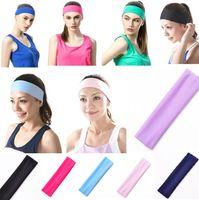 Wholesale New Women s fashion Hair Accessories Women Wide Yoga Headband Stretch Hairband Elastic Hair Band Head Wrap Turban Headbands colors C078