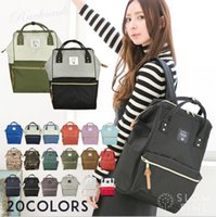 Wholesale anello backpacks online - Japan Anello Backpack Colors Rucksack Unisex Canvas School Bag Large Capacity Campus Bags Lightweight Ring Backpack OOA2222