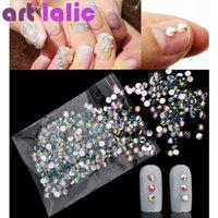 Atacado-SUPER DEAL! 1000 Flatback Cristal AB Rhinestones 4mm Resina Gems Nail Art Craft
