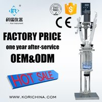Wholesale Reactor Vessel - Wholesale- Buy Mobile distillation device with 1L glass reaction vessel from Glass Reactors factory directly Teflon seal with lglass lid