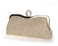 Wholesale Party Dress Manufacturers - Manufacturer of female bag ring dinner bag set auger man-made diamond dress bag lady handbags free shipping by epacket